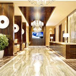 Exclusive hotel foyers