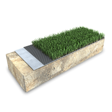 3D rendering of a landscaping articifial turf