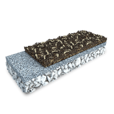 3D rendering of a EPDM Mulch (one layer)