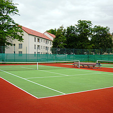 Tennis court of a barrack