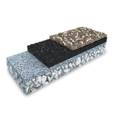 3D rendering of a EPDM Mulch (two layer)
