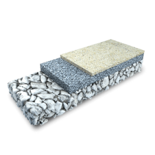 3D rendering of a PUR Coated Stone Surface