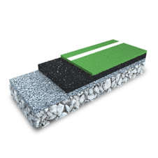3D rendering of a two Layer EPDM System