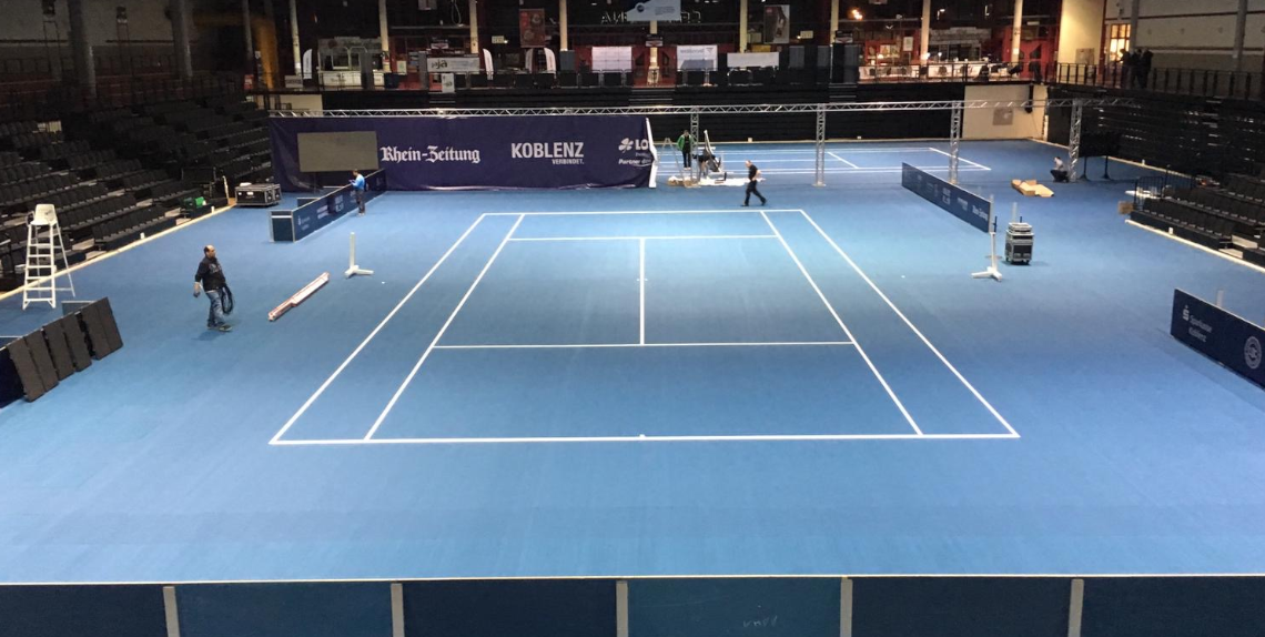 Laykold® as official floor covering at the Koblenz Open